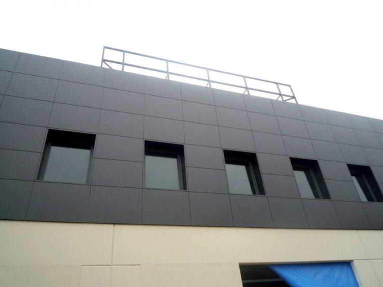 Fachadas con panel composite