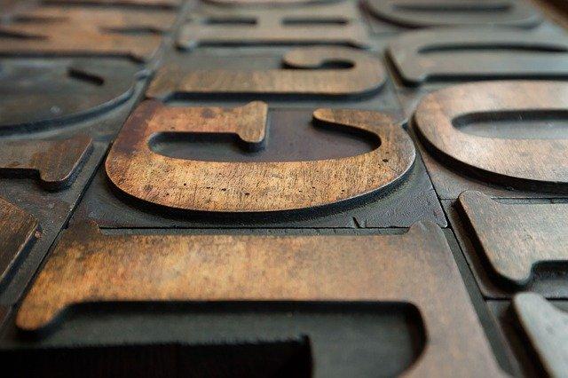 Tipos de letras corpóreas